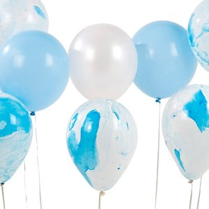 Sada 12 modrých balónikov Talking Tables Unicorn