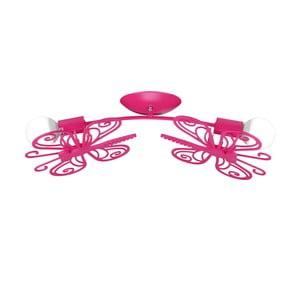 Ružové stropné svietidlo Light Prestige Double Butterly