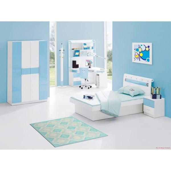 Tyrkysový bavlnený koberec Floorist Kehide, 100x200cm
