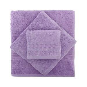 Sada 3 fialových uterákov Rainbow