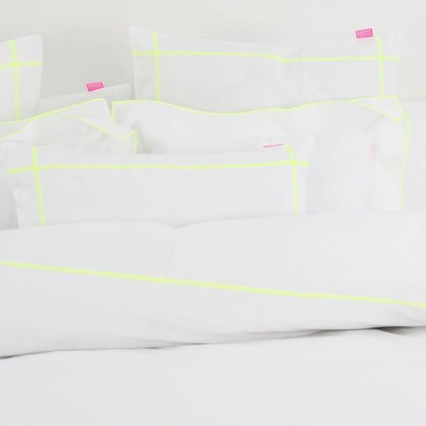 Obliečka na vankúš Basic Fluor yellow, 50 x 50 cm