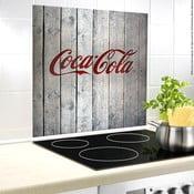 Sklenený kryt na stenu pri sporáku Wenko Coca-Cola Wood, 60×50 cm