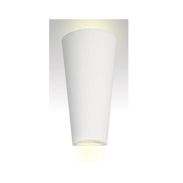 Nástenné keramické svetlo Tuba, biele