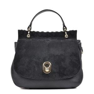 Čierna kožená kabelka Luisa Vannini Maturgo