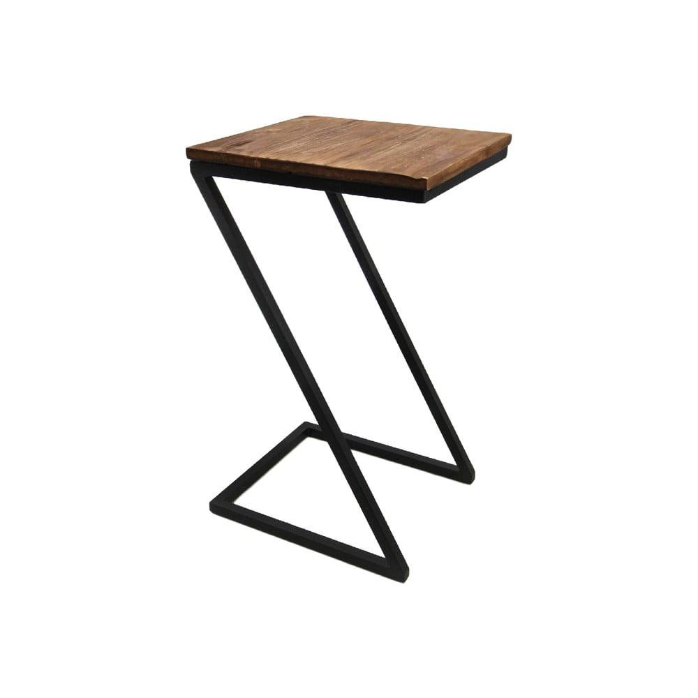 Konzolový stolík s doskou z exotického dreva HMS collection, výška 68 cm