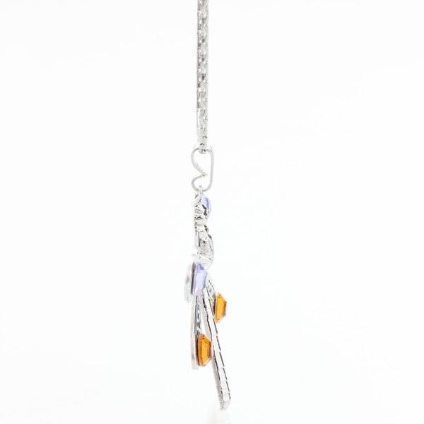 Náhrdelník so Swarovski Elements, oranžová vážka