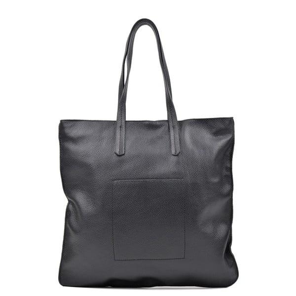 Čierna kožená kabelka Luisa Vannini Thalia