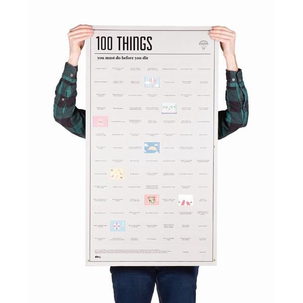 Plagát DOIY 100 vecí, ktoré musíte stihnúť