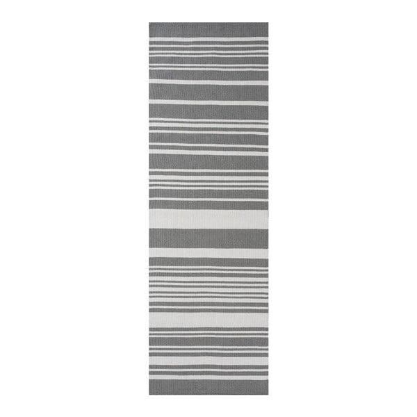 Sivý bavlnený koberec Linie Design Glorious, 80x250cm