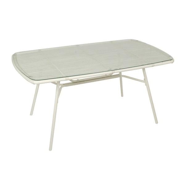 Stôl Alum White, 77x160x90 cm