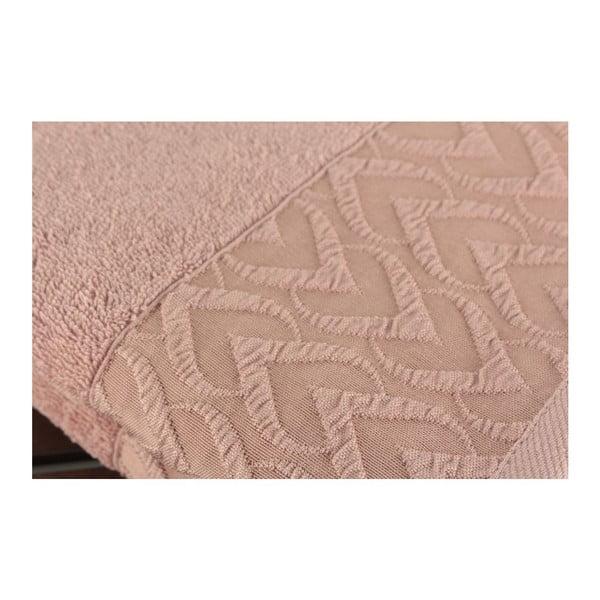 Sada 2 púdrovoružových uterákov Kalp Dusty Rose, 50 x 90 cm
