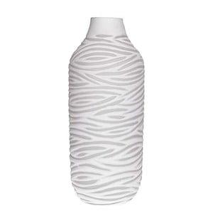 Biela sklenená váza InArt Ximena
