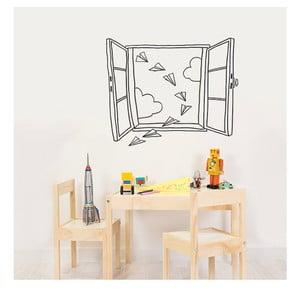 Dekoratívna samolepka na stenu Planes Window