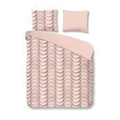 Ružové bavlnené obliečky na jednolôžko  Muller Textiels Emerged, 140 x 200 cm