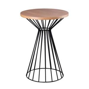 Čierno-hnedý odkladací stolík sømcasa Nico