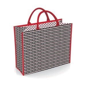 Čierno-červená nákupná taška Incidence Black & Red, 47 x 40 cm