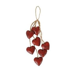 Závesná dekorácia Antic Line Red Heart