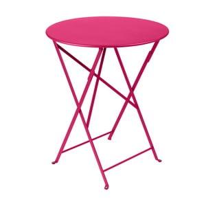 Ružový skladací kovový stôl Fermob Bistro