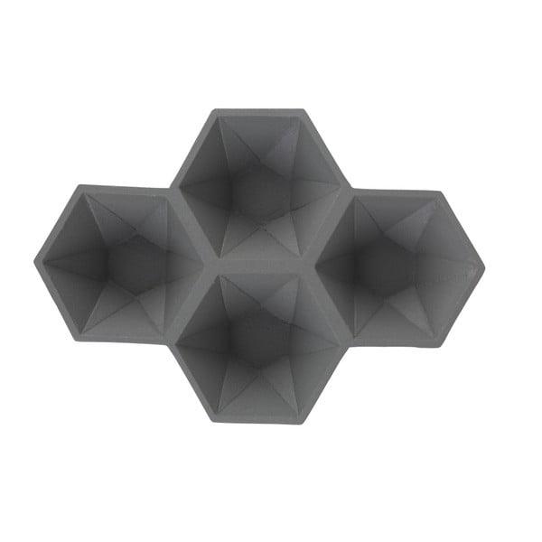 Sivý podnos Zuiver Hexagon