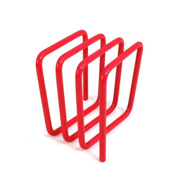 Červený stojan na listy Letter Rack