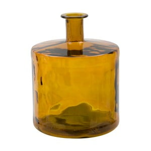 Žltá váza z recyklovaného skla Mauro Ferretti Lop, výška 45 cm