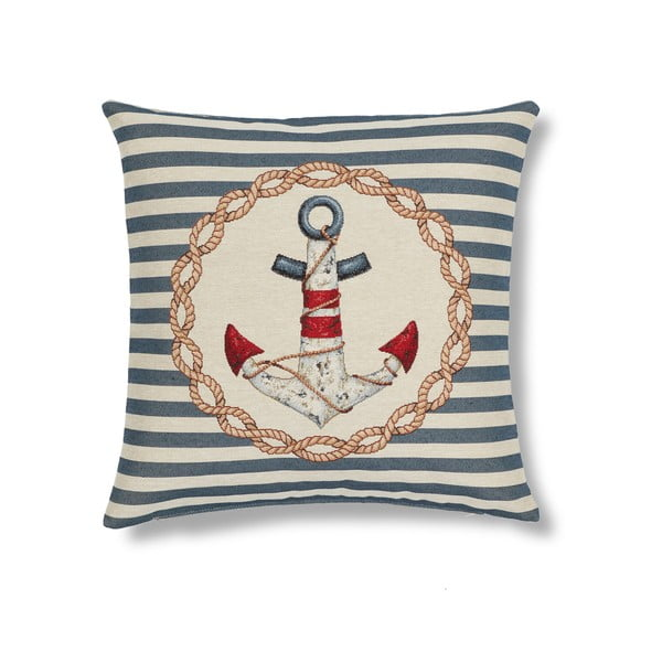 Obliečka na vankúš Maritim Anchor Blue, 45x45cm
