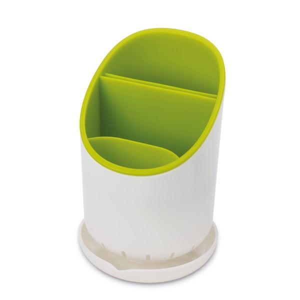 Bielo-zelený odkvapkávací stojan na príbory a kuchynské nástroje Joseph Joseph Dock