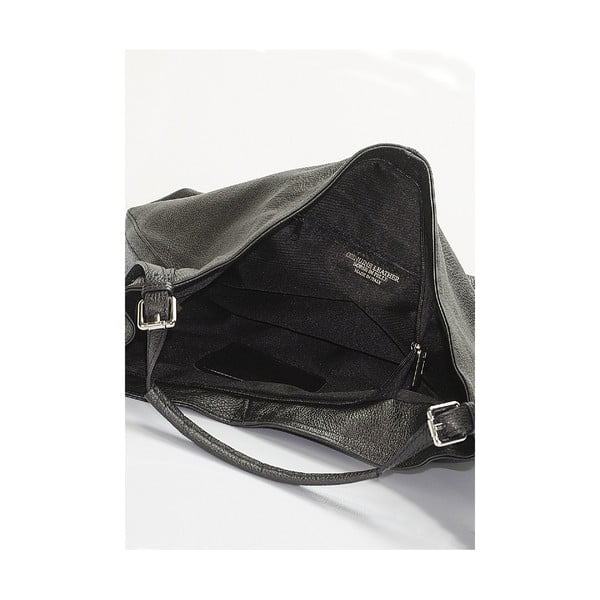Kožená kabelka Giorgio Costa 15007 Black