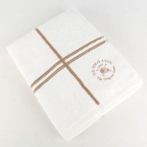 Osuška U.S. Polo Assn. Bath Towel White and Gold, 70x140 cm