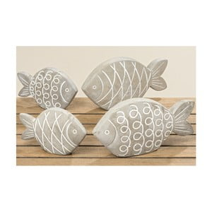 Sada 2 kameninových dekorácií v tvare ryby Boltze Pesces