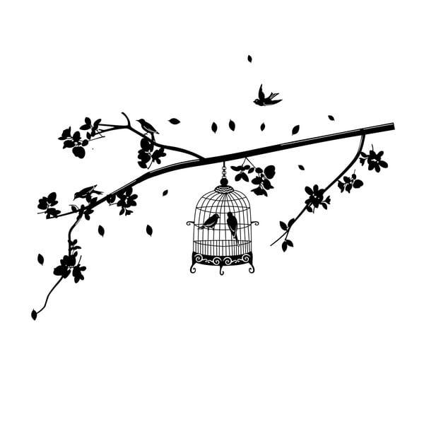 Dekoratívna samolepka Cage Birds, 70x140 cm