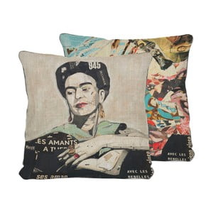 Obojstranný vankúš Madre Selva Frida Collage, 45×45 cm