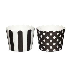 Sada 20 papierových košíčkov na muffiny Black Sweetly Does It