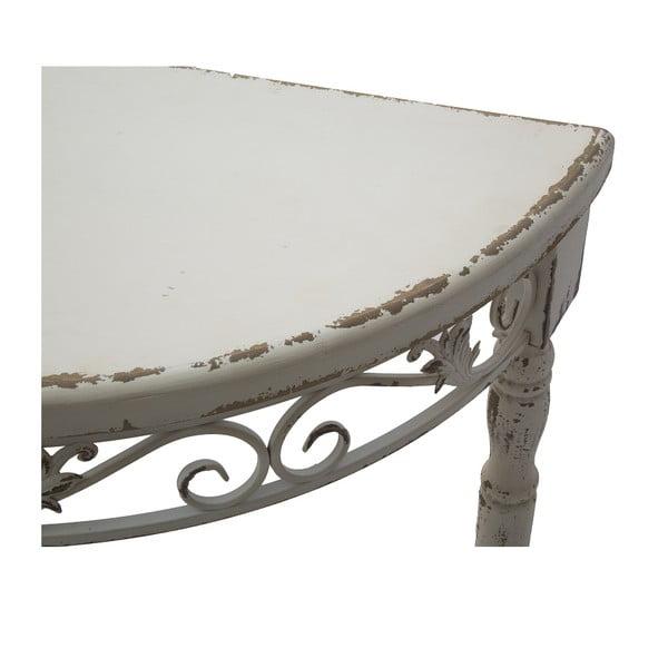 Zaguľatený konzolový stolík Lyon, 80 cm