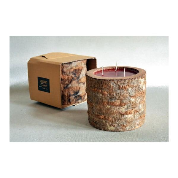 Palmová sviečka Legno Ebony s vôňou exotického ovocia, 100 hodín horenia