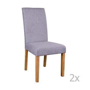 Sada 2 sivých stoličiek House Nordic Mora