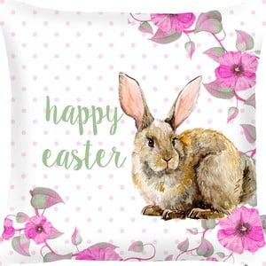 Obliečka na vankúš Apolena Rabbit Wishes Happy Easter, 43×43cm