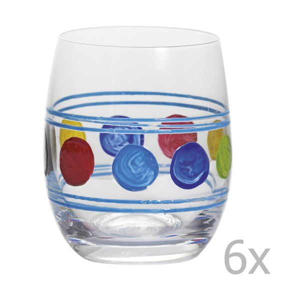 Sada 6 pohárov Summer Blue