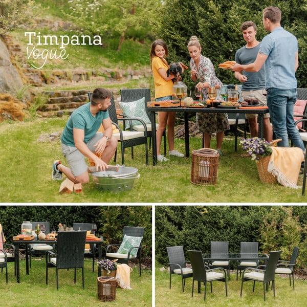 Set záhradného nábytku z umelého ratanu Timpana Vogue