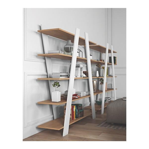 Biela knižnica TemaHome Wind Oak