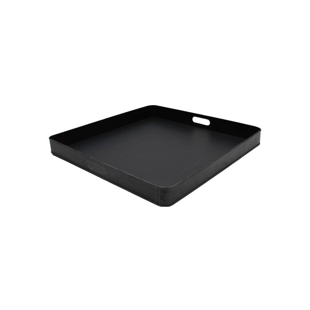 Čierny kovový servírovací podnos LABEL51, 60 x 60 cm
