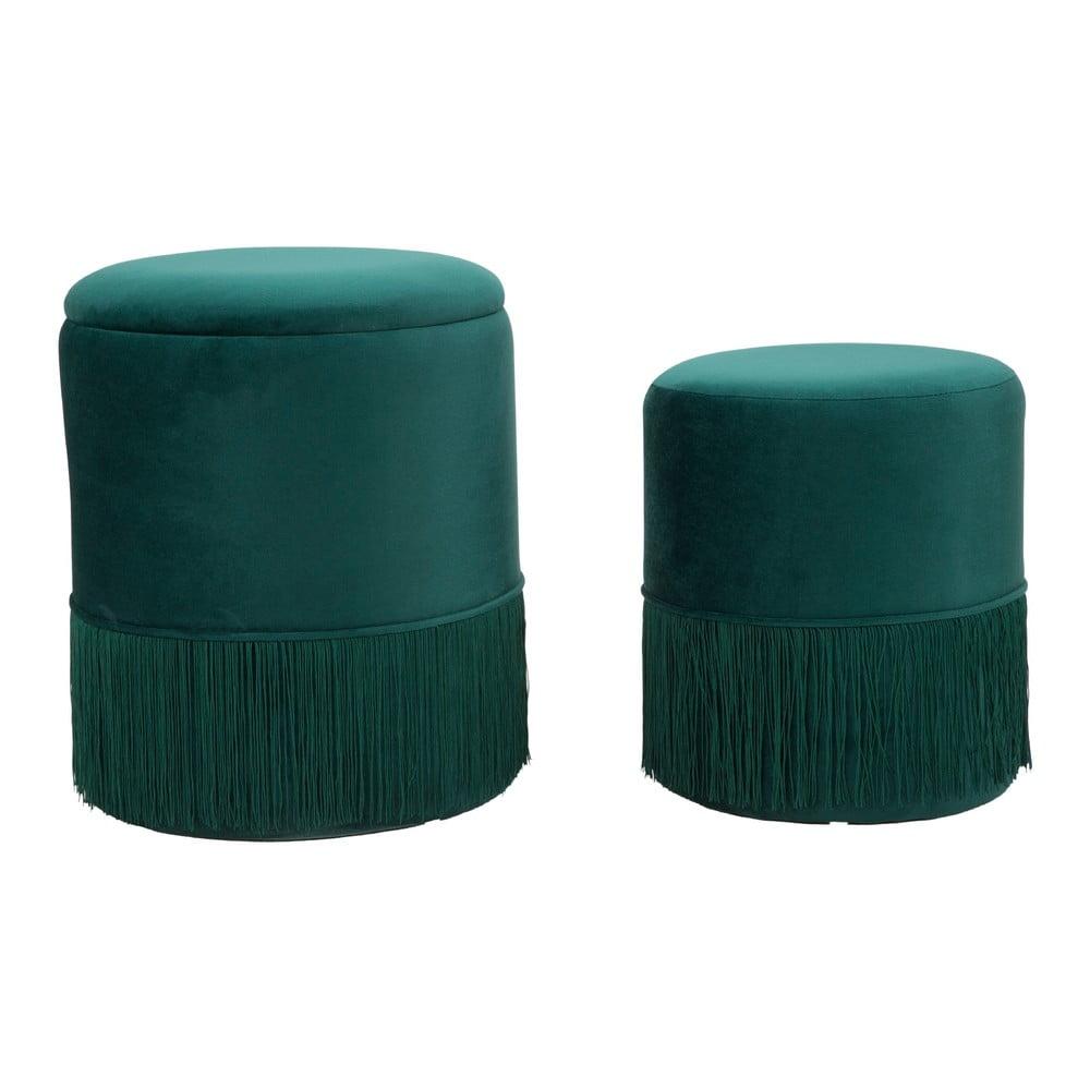 Sada zelených taburetiek Mauro Ferretti Constanzo, 2 ks