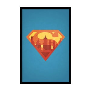 Plagát Superman, 35x30 cm
