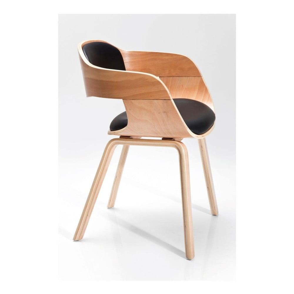 Jed lensk stoli ka so svetlou drevenou podno ou kare for Kare design stuhl costa