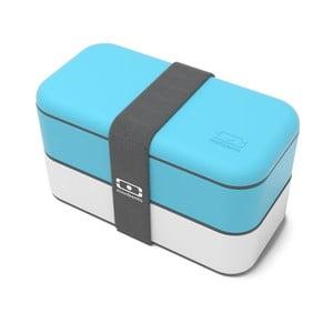 Modro-biely obedový box Monbento Original