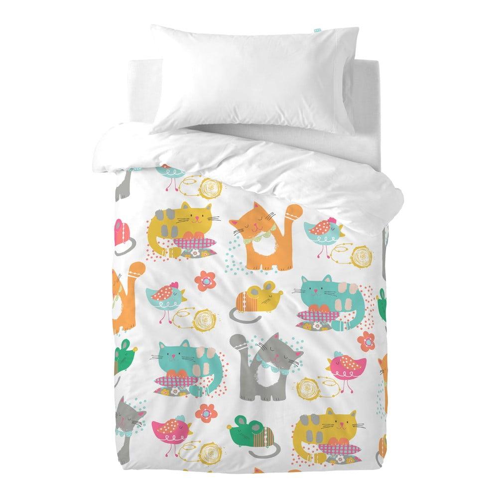 Detské bavlnené obliečky Moshi Moshi Cat & Mouse, 100 × 120 cm