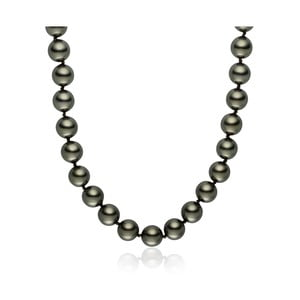 Svetlosivý perlový náhrdelník Pearls Of London Mystic, dĺžka 45 cm