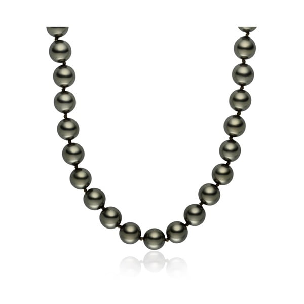 Svetlosivý perlový náhrdelník Pearls Of London Mystic dĺžka 45 cm