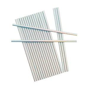 Sada 25 papierových slamiek Neviti Iridescent