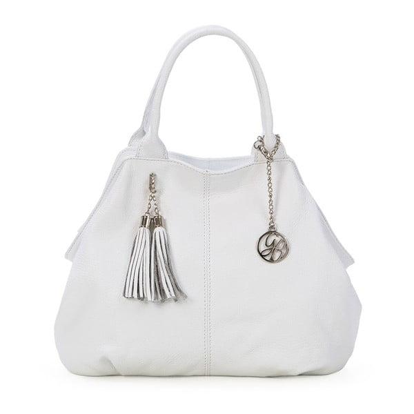 Kožená kabelka Pietro, biela